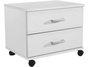 Livetastic ROLLCONTAINER Weiß , Kunststoff, 50x41x38 cm