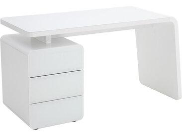 XXXLutz COMPUTERTISCH Weiß , Glas, 60x75x132 cm