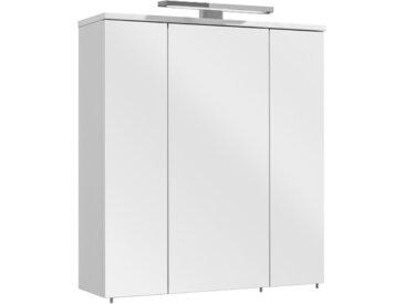 Xora SPIEGELSCHRANK Weiß , 6 Fächer, 65x72x20 cm