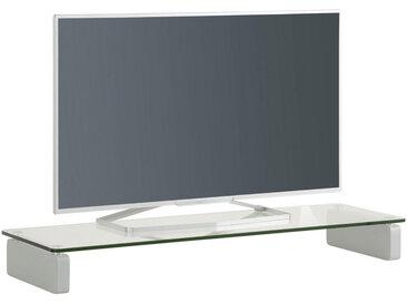 Livetastic TV-AUFSATZ Glas Weiß, Silber , 110x12.2x35 cm