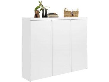 Xora SCHUHSCHRANK Weiß , 18 Fächer, 144x120x35 cm
