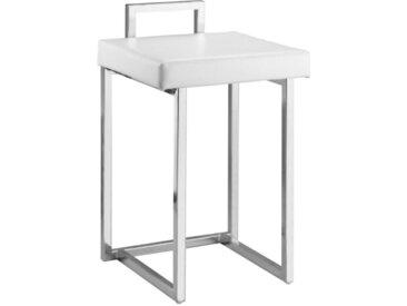 XXXLutz BADHOCKER, Weiß, Chrom, Metall, 38x57x37 cm