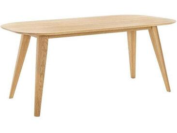 Voleo ESSTISCH Eiche massiv oval Braun , Holz, 100x75.5 cm