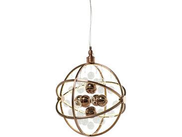 Kare-Design HÄNGELEUCHTE, Kupfer, Metall, Glas, 48x150x48 cm