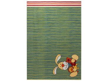 Sigikid KINDERTEPPICH 133/200 cm Blau, Mehrfarbig, Rot , Tier, 133 cm
