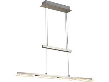 Novel LED-HÄNGELEUCHTE , Nickel, Metall, Kunststoff, 8x150 cm