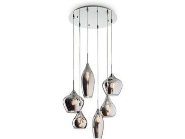Dieter Knoll HÄNGELEUCHTE, Grau, Metall, Glas, 30-135 cm