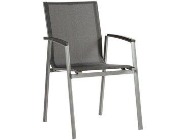 Stern STAPELSESSEL Aluminium Grau , Metall, Uni, 57x89x65 cm