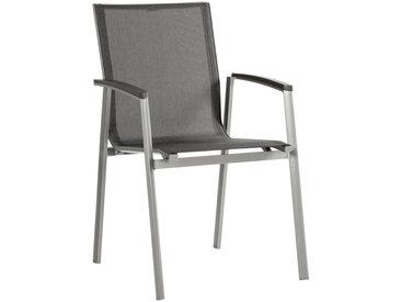 Stern STAPELSESSEL Aluminium Grau , Grau, Graphit, Silber, Metall, Uni, 57x89x65 cm