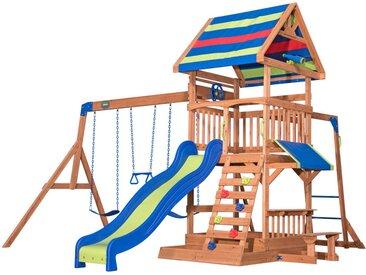 XXXLutz Spielturm Northbrook , Blau, Mehrfarbig, Holz, Zeder, massiv, 429.3x299.7x136.9 cm