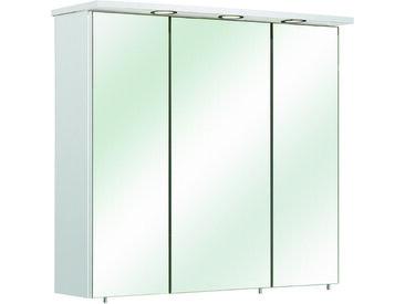 Carryhome SPIEGELSCHRANK Weiß , Nachbildung, 6 Fächer, 75x72x20 cm