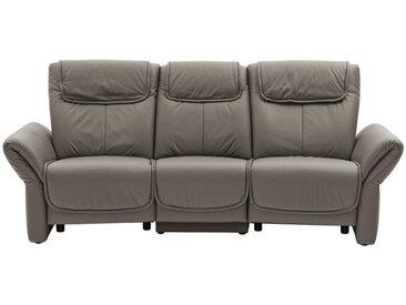 Musterring HEIMKINO-SOFA Echtleder Grau , Leder, 3-Sitzer, 240x105x106 cm