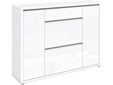 Xora SCHUHSCHRANK Weiß , 10 Fächer, 133x100x34 cm