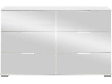 Livetastic KOMMODE Weiß , Metall, 130x83x41 cm