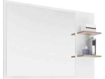 Xora BADEZIMMERSPIEGEL , Weiß, Eiche, 100.0x74.5x15.5 cm