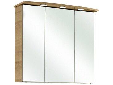 Xora: Spiegelschrank, Holzwerkstoff, Eiche, B/H/T 75 70 20