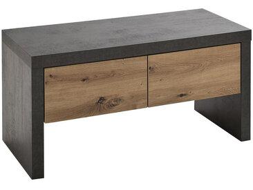 Voleo GARDEROBENBANK Balkeneiche Braun , Holz, 91x45x38 cm