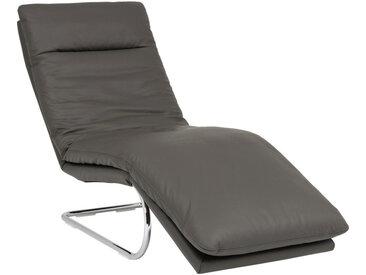Chilliano LIEGE Echtleder Grau , Leder, 1-Sitzer, 65x101x158 cm