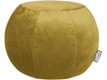 XXXLutz POUF Samt Uni Currygelb , ca.180 L, 50 cm