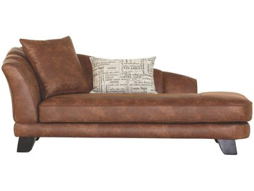 CHAISELONGUE Mikrofaser Braun