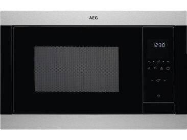 AEG Mikrowelle MSB2547D-M , Schwarz, Edelstahl, Metall, 59.5x38.8x40 cm