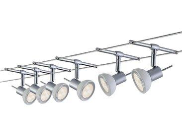 Paulmann Licht WIRE SEILSYSTEM 6ER-SET 6X4W , Weiß, Metall, 1000 cm