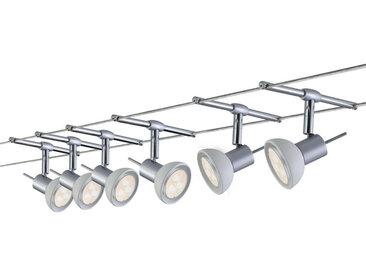 Paulmann WIRE SEILSYSTEM 6ER-SET 6X4W , Weiß, Metall