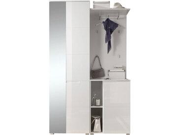 Xora GARDEROBE Weiß , Glas, 120x198x40 cm