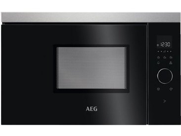 AEG Mikrowelle MBB1756SEM , Schwarz, Edelstahl, Metall, Glas, 59.4x37.1x31.6 cm