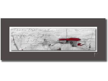 Wiedemann UNIKAT AUF ALUPASSEPARTOUT Abstraktes , Mehrfarbig, 50x125 cm