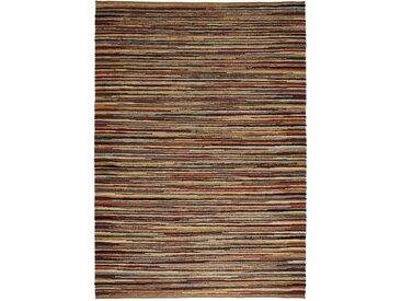Linea Beigea Fleckerlteppich 130/190 cm Mehrfarbig , Streifen, 130x190 cm