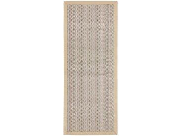 Linea Beigea LÄUFER 80/200 cm Braun , Bordüre, 80x200 cm