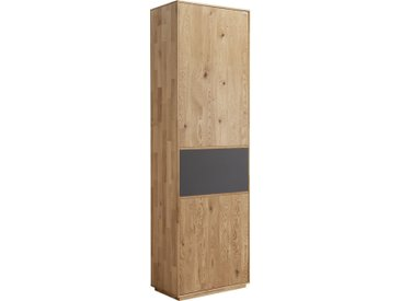 Valnatura GARDEROBENSCHRANK Eiche massiv Braun , Holz, Glas, 1 Fächer, 60x205x38 cm