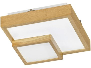 Wofi LED-DECKENLEUCHTE , Eiche, Holz, Kunststoff, 35x10x35 cm