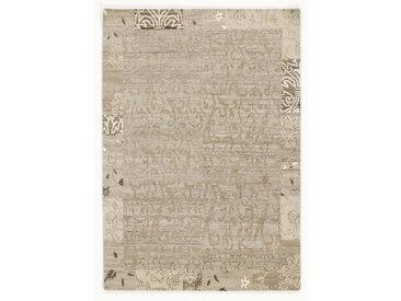 Esposa Wollteppich 90/160 cm Mehrfarbig, Beige , Beige, Beige, Bordüre, 90 cm