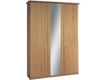 Venda SCHRANK Erle teilmassiv Braun , teilmassiv, 4 Fächer, 150x217x63 cm