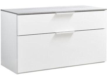 Carryhome GARDEROBENBANK Weiß , 1-Sitzer, 90x50x35 cm