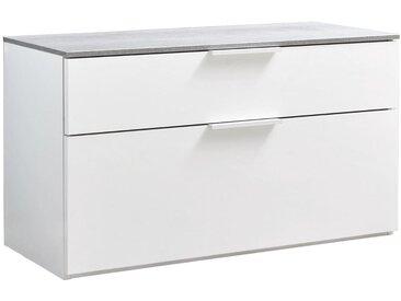 Carryhome: Garderobenbank, Grau, Weiß, B/H/T 90 50 35