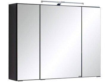 MID.YOU SPIEGELSCHRANK Grau , Glas, 6 Fächer, 80x64x20 cm