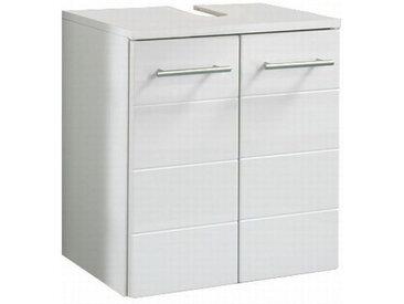 Carryhome WASCHBECKENUNTERSCHRANK Weiß , Nachbildung, 0 Fächer, 50x53x34 cm