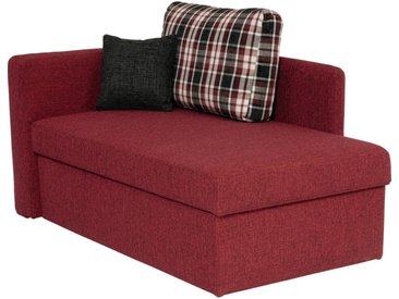 Livetastic LIEGE Webstoff Rot , Uni, 3-Sitzer, 142x90x87 cm