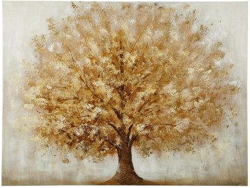 Monee ÖLGEMÄLDE Bäume , Braun, Gold, Holz, Tanne, massiv, 120x90 cm