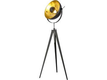 XXXLutz STEHLEUCHTE, Schwarz, Metall, 168 cm