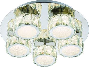 XXXLutz LED-DECKENLEUCHTE , Chrom, Metall, Glas, 85 mm