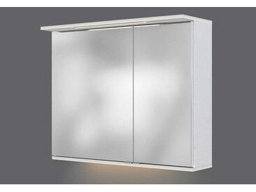 Xora SPIEGELSCHRANK Weiß , Nachbildung, 80x67x20 cm