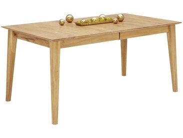 Linea Beigea ESSTISCH Wildeiche vollmassiv rechteckig Braun , Holz, 90x75 cm