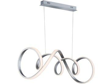 XXXLutz LED-HÄNGELEUCHTE , Silber, Metall, Kunststoff, 102x150x40 cm