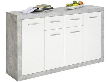 Xora KOMMODE Weiß , 5 Fächer, 152x88x37 cm