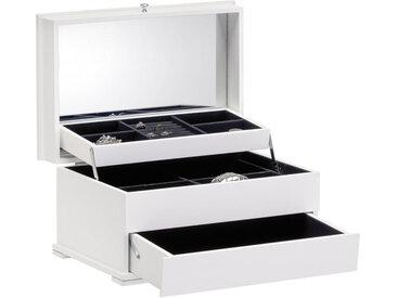 Xora SCHMUCKKÄSTCHEN, Weiß, Glas, 40 cm