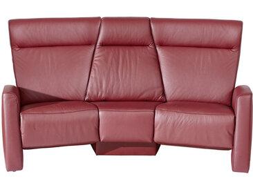 Himolla HEIMKINO-SOFA Echtleder Rot , Leder, 3-Sitzer, 215x105x113 cm
